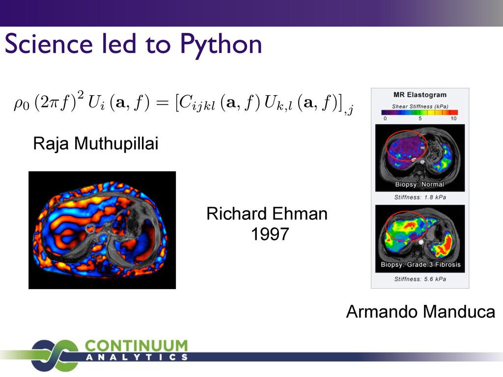 Science led to Python Raja Muthupillai Armando ...