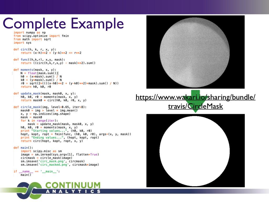 Complete Example https://www.wakari.io/sharing/...