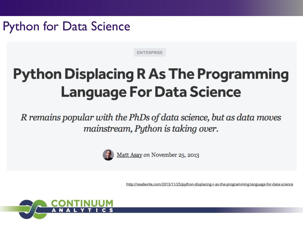 Python for Data Science http://readwrite.com/20...