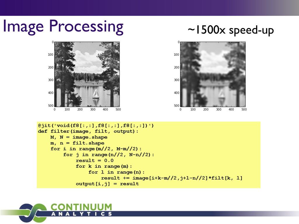 Image Processing @jit('void(f8[:,:],f8[:,:],f8[...