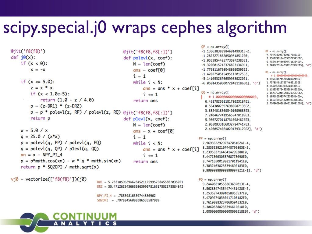 scipy.special.j0 wraps cephes algorithm