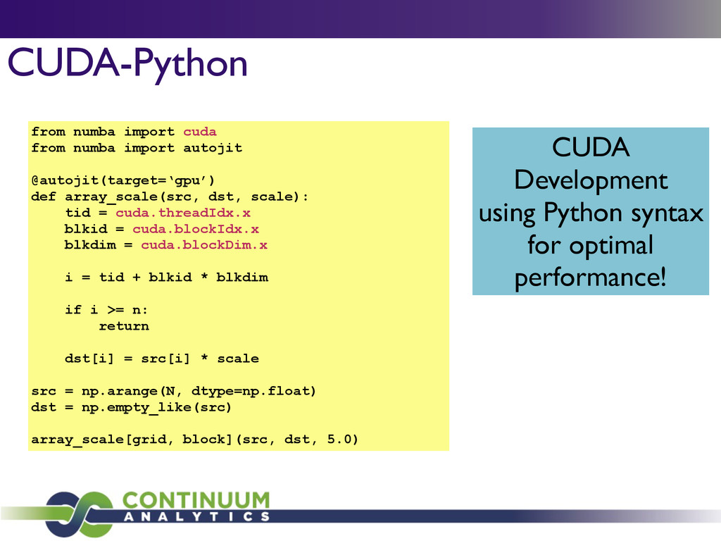CUDA-Python from numba import cuda from numba i...