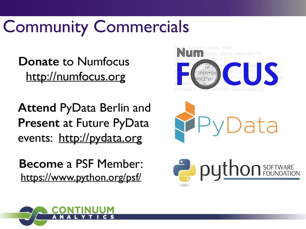 Donate to Numfocus  http://numfocus.org Becom...