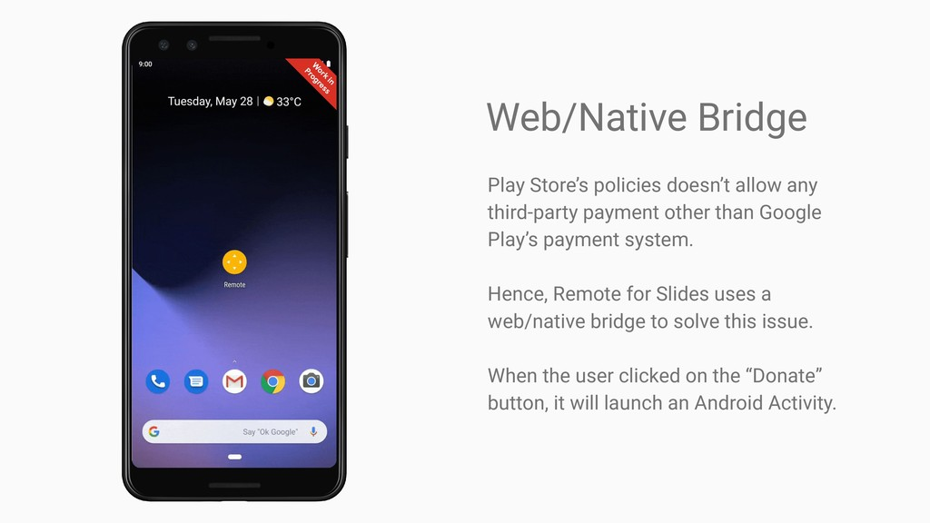Web/Native Bridge Play Store's policies doesn't...