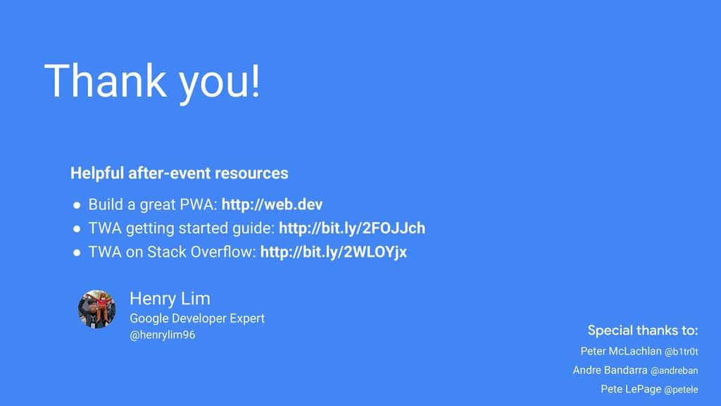 Henry Lim Thank you! Google Developer Expert @h...