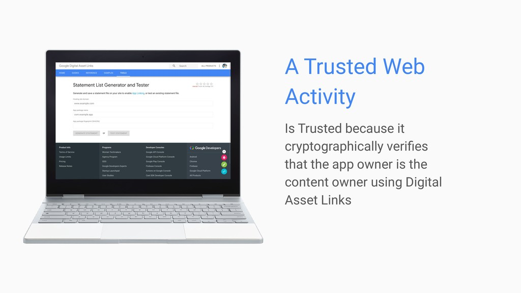 Is Trusted because it cryptographically verifies...