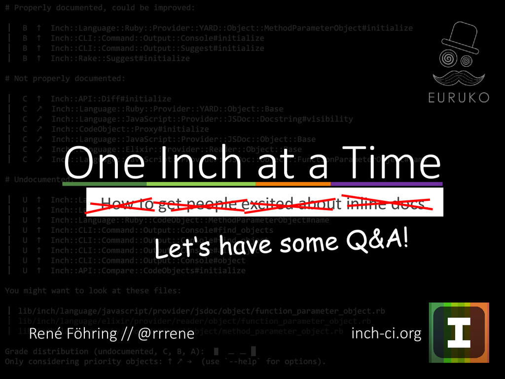 How to get people excited about inline docs. On...