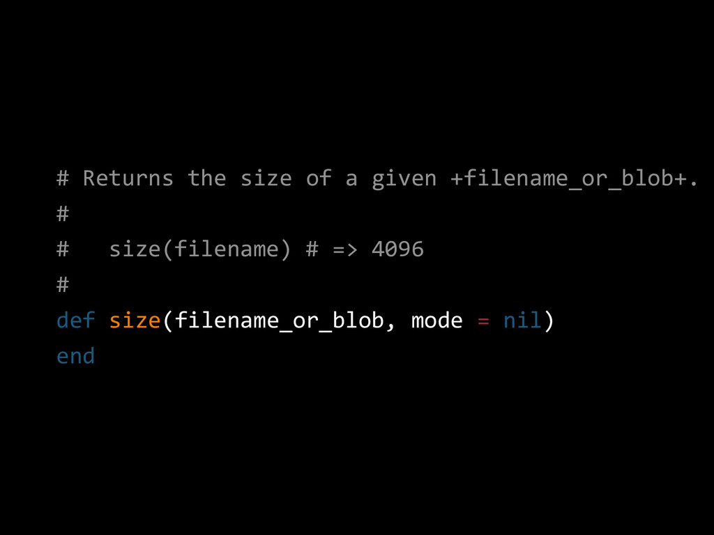 # Returns the size of a given +filename_or_blob...