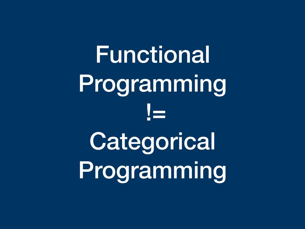 Functional Programming