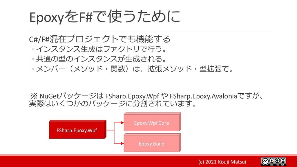 (c) 2021 Kouji Matsui EpoxyをF#で使うために C#/F#混在プロジ...