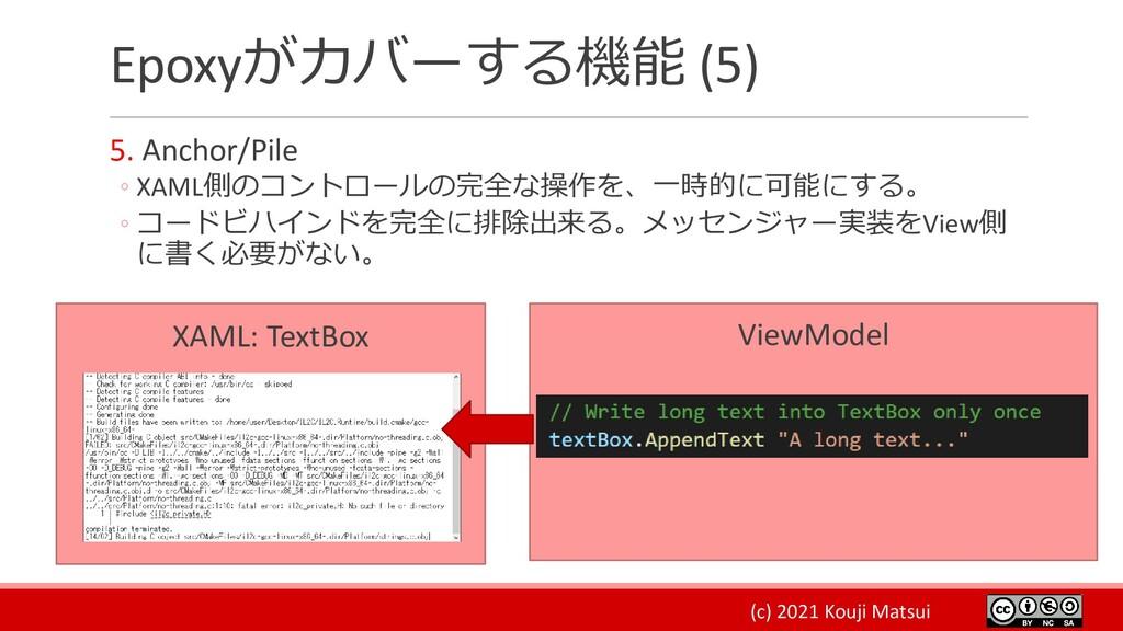 (c) 2021 Kouji Matsui ViewModel Epoxyがカバーする機能 (...