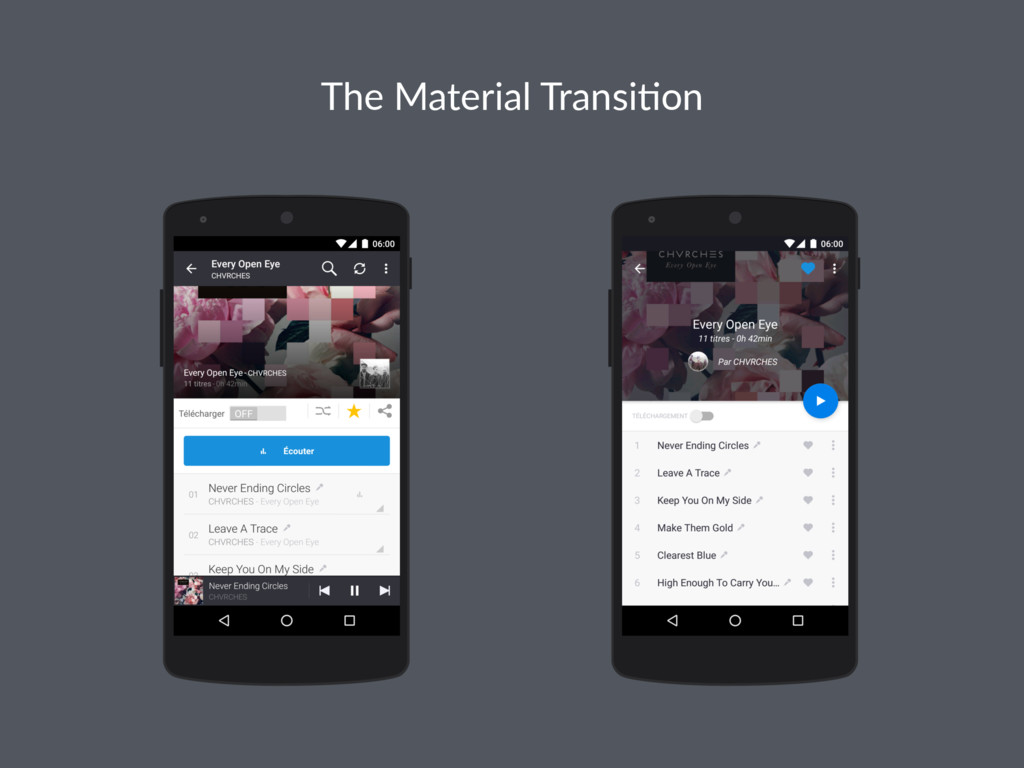 The Material Transi-on