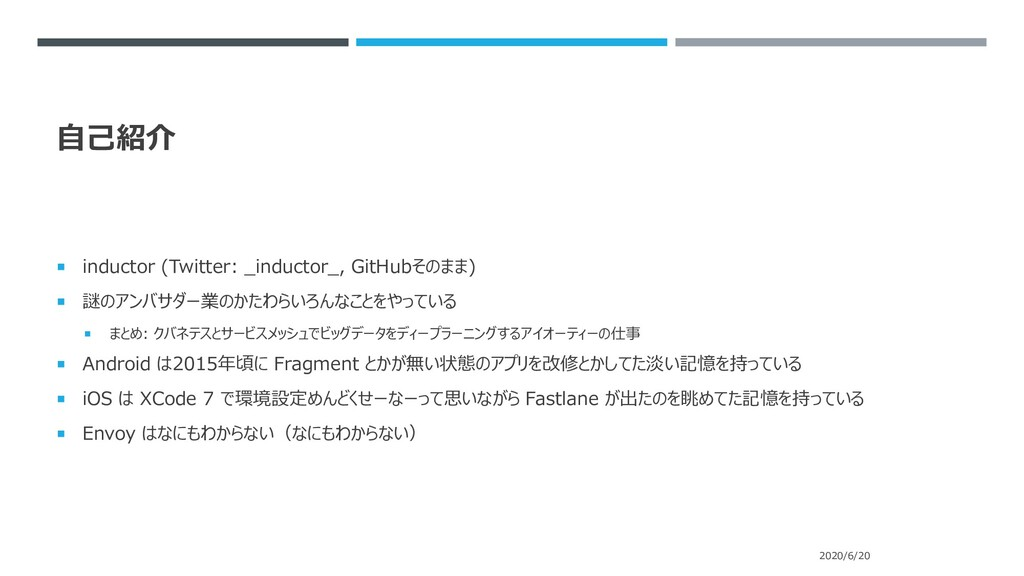 自己紹介  inductor (Twitter: _inductor_, GitHubそのま...