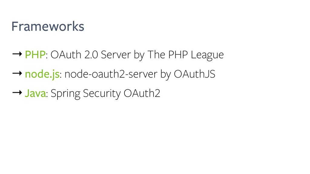 Frameworks →PHP: OAuth 2.0 Server by The PHP Le...