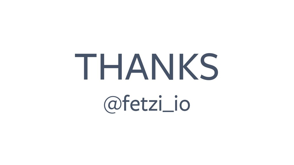 THANKS @fetzi_io