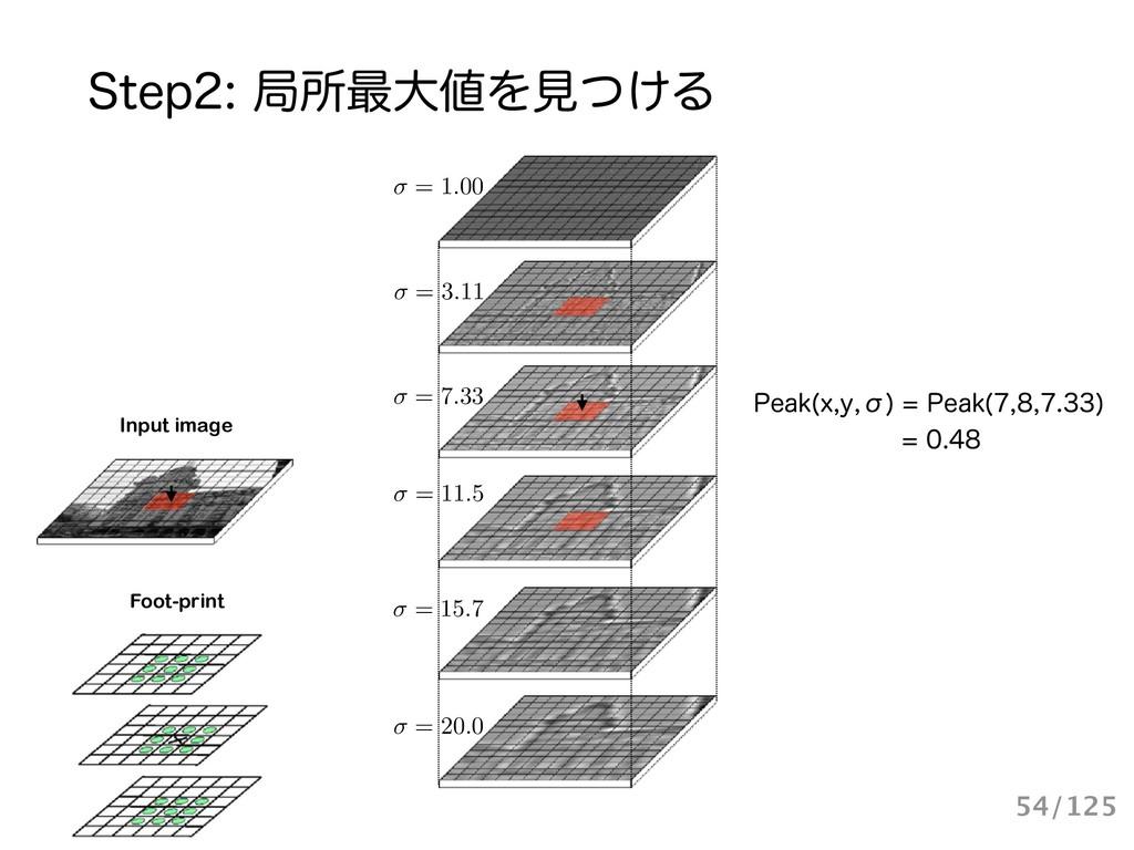 Input image Foot-print = 1.00 = 20.0 = 15.7 = 3...