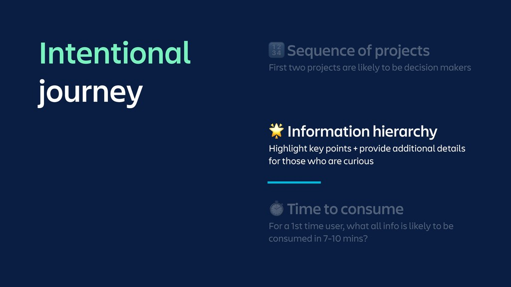 🌟 Information hierarchy Highlight key points + ...