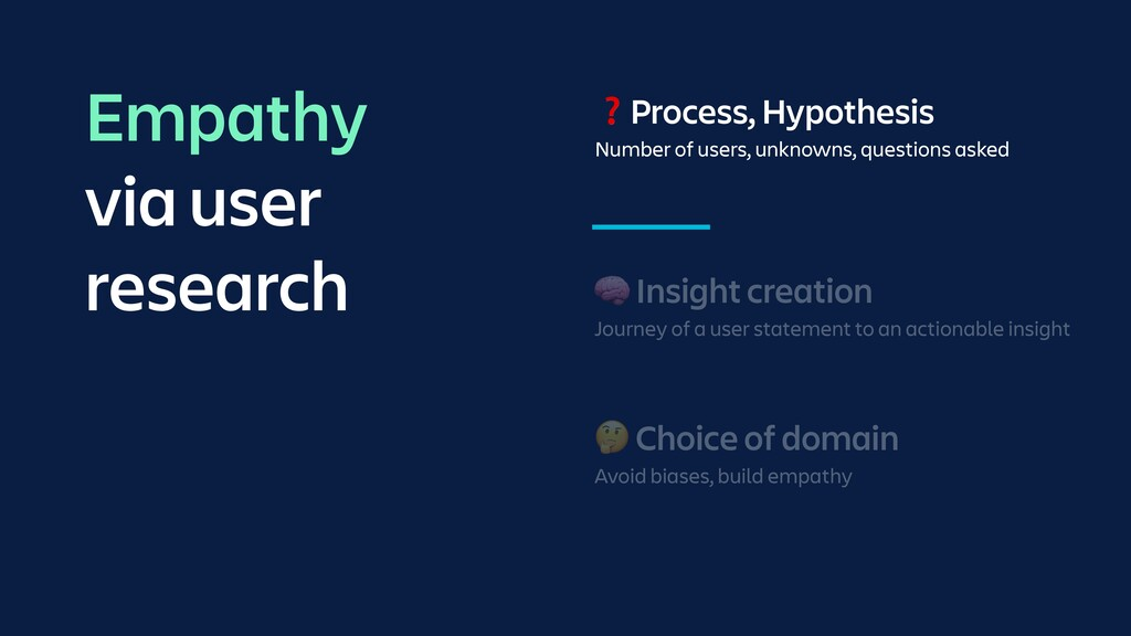 🧠 Insight creation Journey of a user statement ...