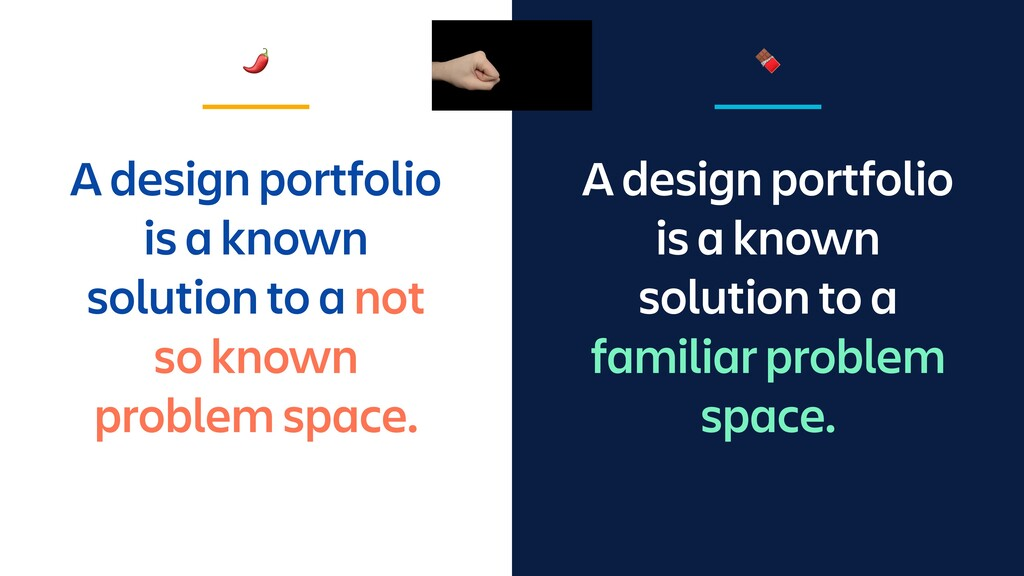 A design portfolio is a known solution to a fam...