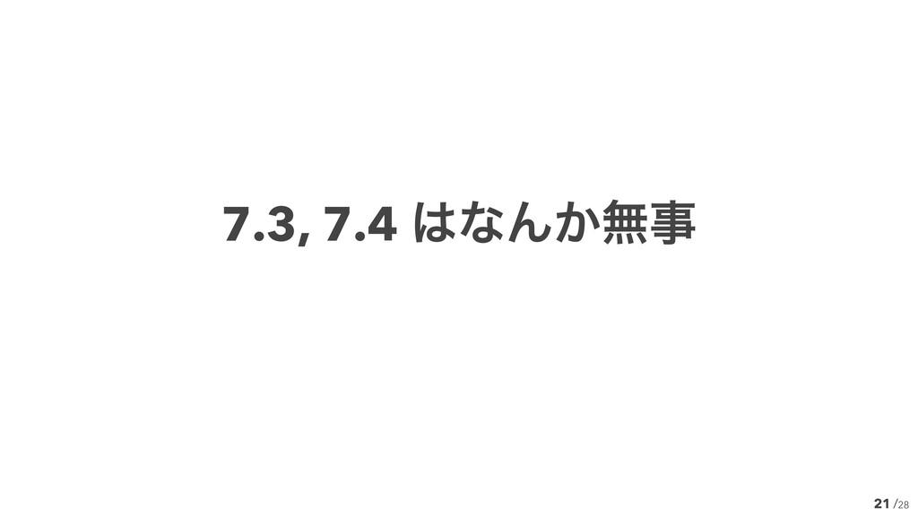 /28 21 7.3, 7.4 ͳΜ͔ແ