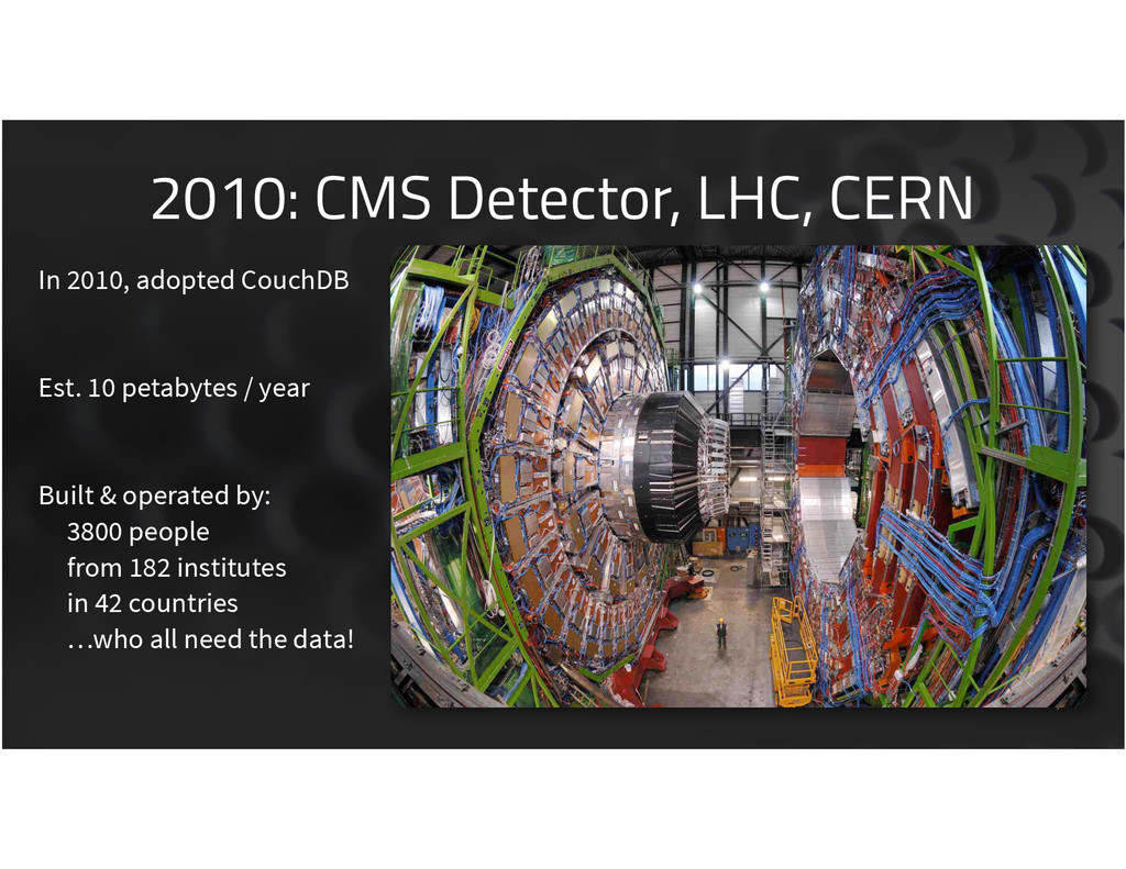 2010: CMS Detector, LHC, CERN 7 In 2010, adopte...