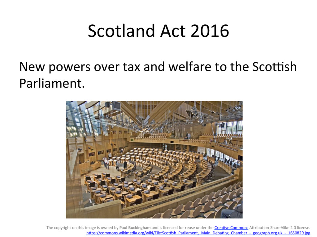 Scotland(Act(2016( New(powers(over(tax(and(welf...