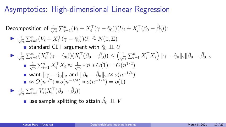 Asymptotics: High-dimensional Linear Regression...