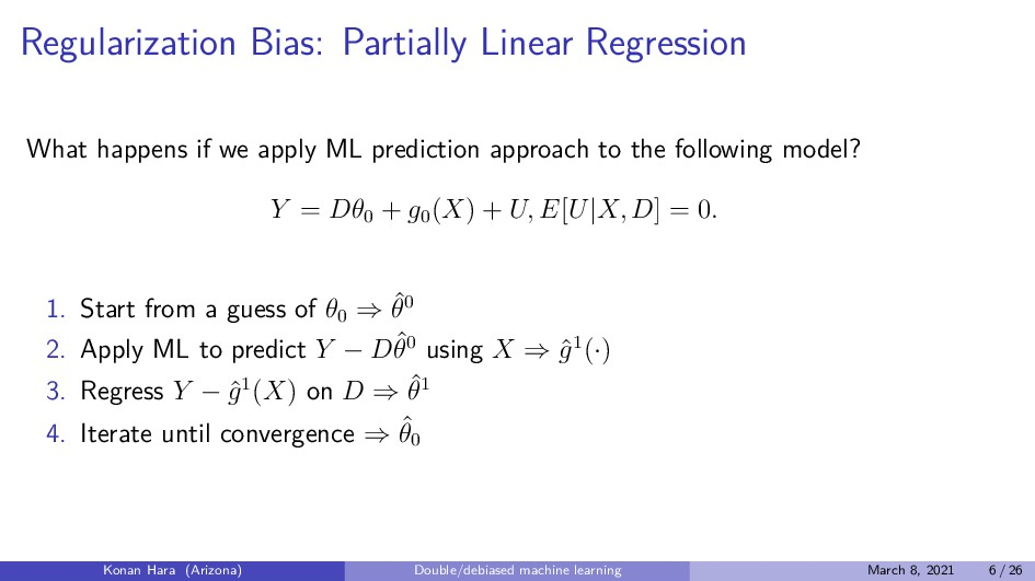 Regularization Bias: Partially Linear Regressio...