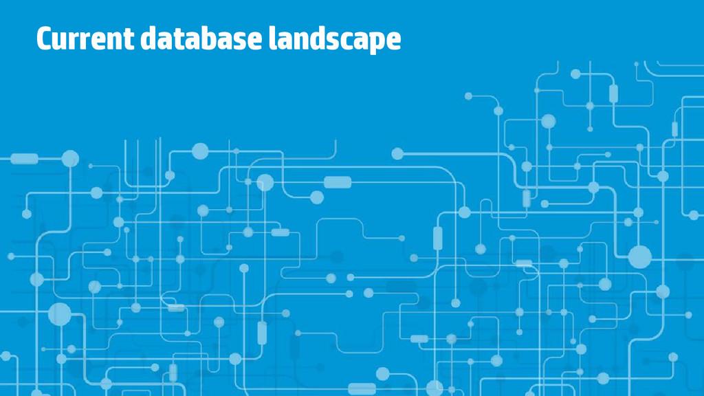 Current database landscape