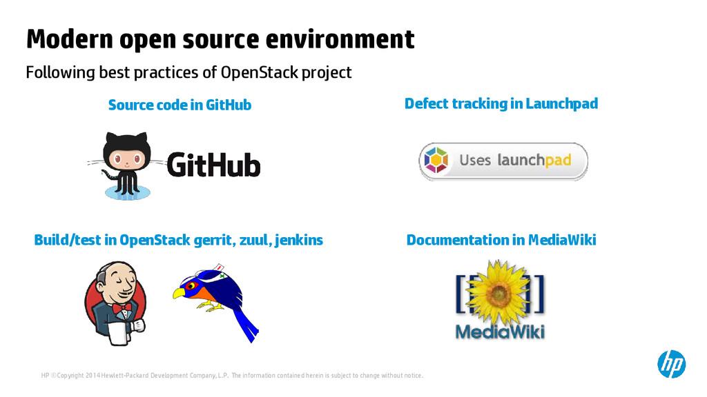 Modern open source environment Following best p...