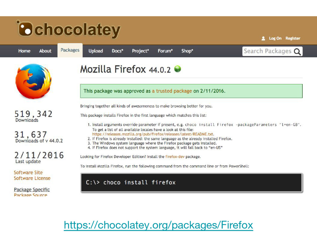 https://chocolatey.org/packages/Firefox