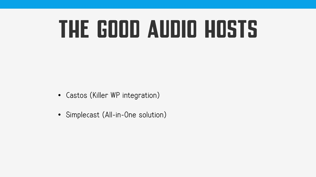 THE GOOD AUDIO HOSTS • Castos (Killer WP integr...