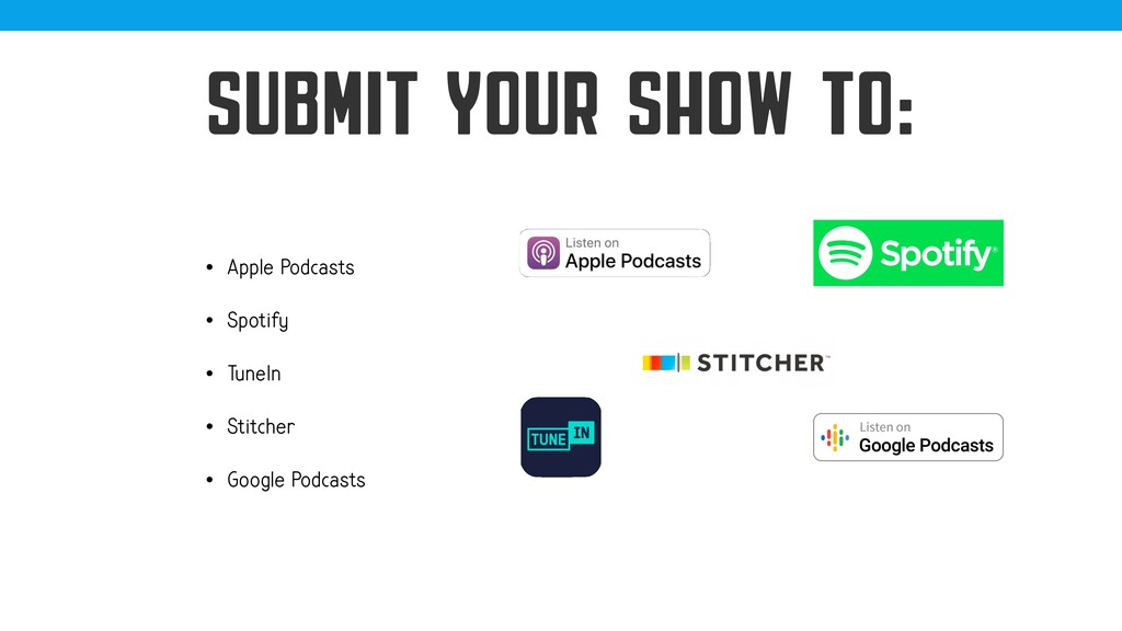 @jcasabona SUBMIT YOUR SHOW TO: • Apple Podcast...