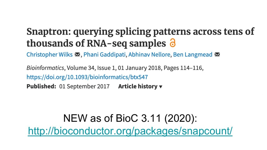 NEW as of BioC 3.11 (2020): http://bioconductor...