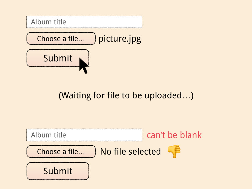 Choose a file… picture.jpg Submit Album title C...