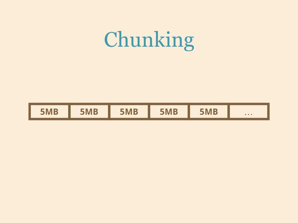 Chunking 5MB 5MB 5MB 5MB 5MB …