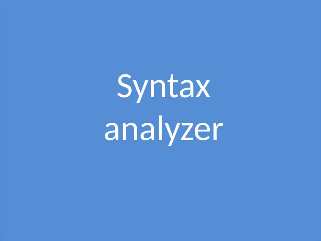 Syntax analyzer