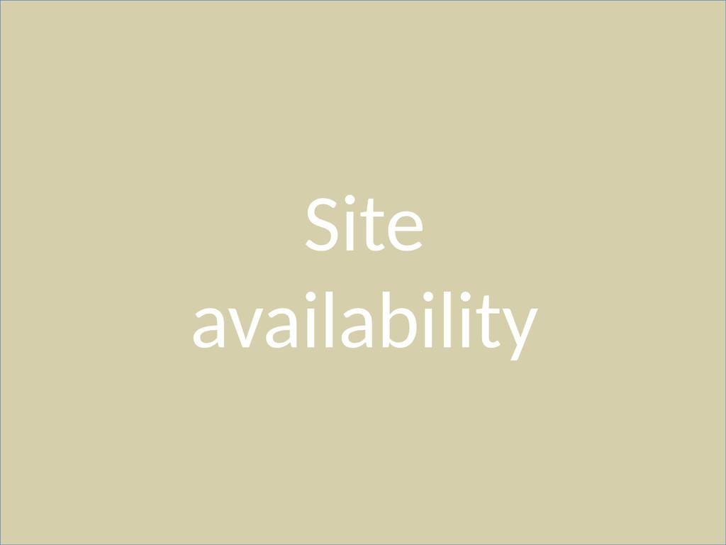Site availability