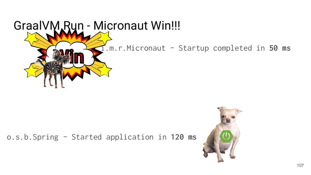 GraalVM Run - Micronaut Win!!! 107 i.m.r.Micron...