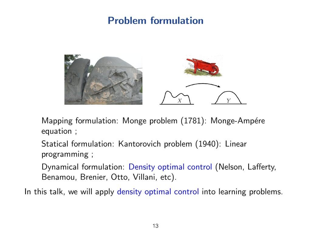 Problem formulation Mapping formulation: Monge ...