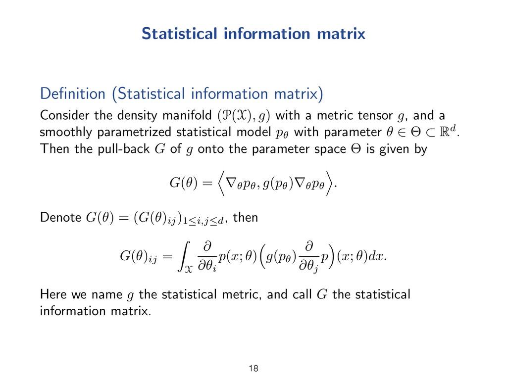 Statistical information matrix Definition (Stati...