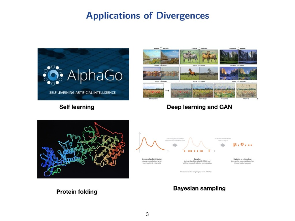 Applications of Divergences 3 3