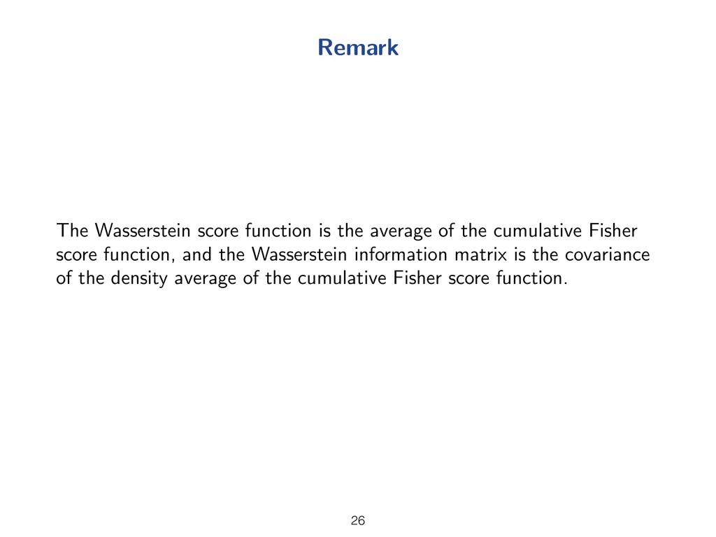 Remark The Wasserstein score function is the av...