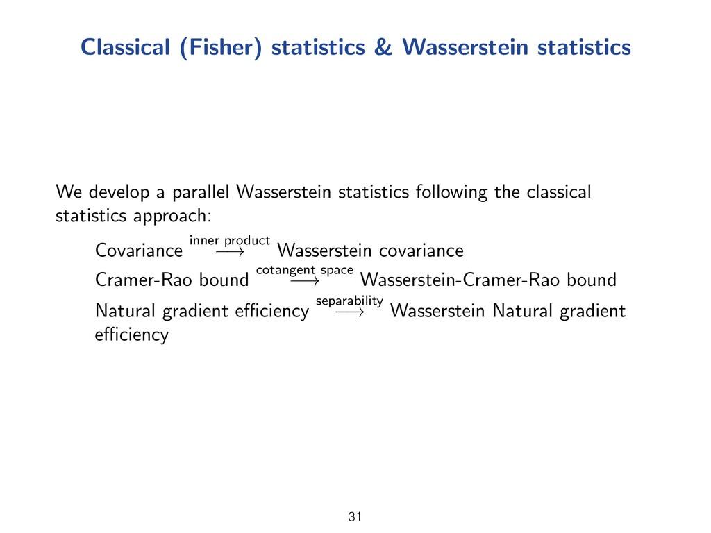 Classical (Fisher) statistics & Wasserstein sta...