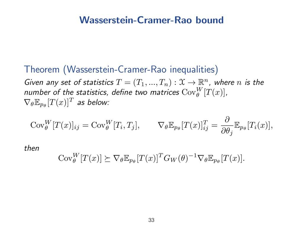 Wasserstein-Cramer-Rao bound Theorem (Wasserste...