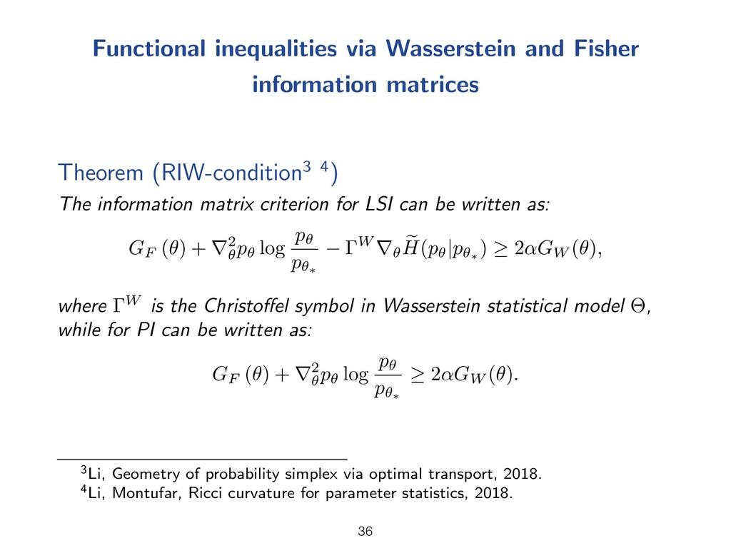 Functional inequalities via Wasserstein and Fis...