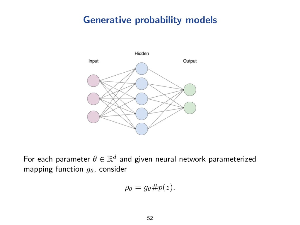 Generative probability models For each paramete...