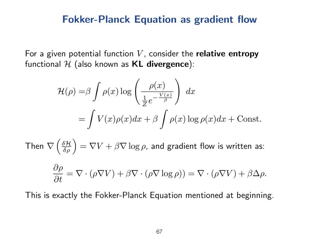 Fokker-Planck Equation as gradient flow For a gi...