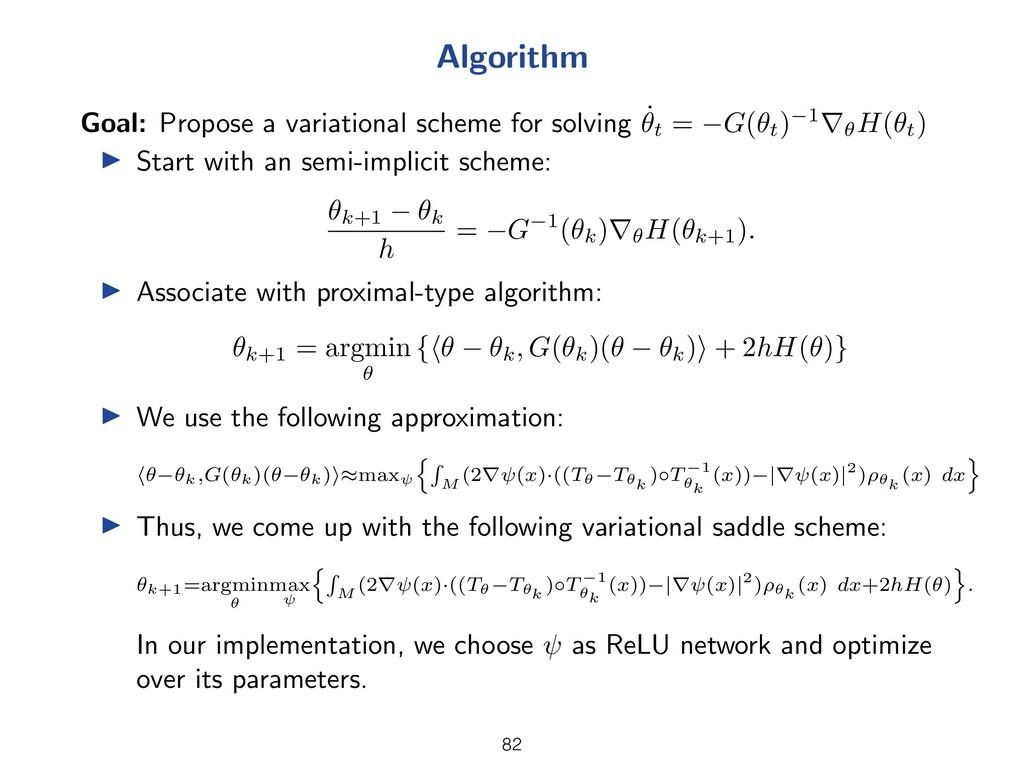 Algorithm Goal: Propose a variational scheme fo...