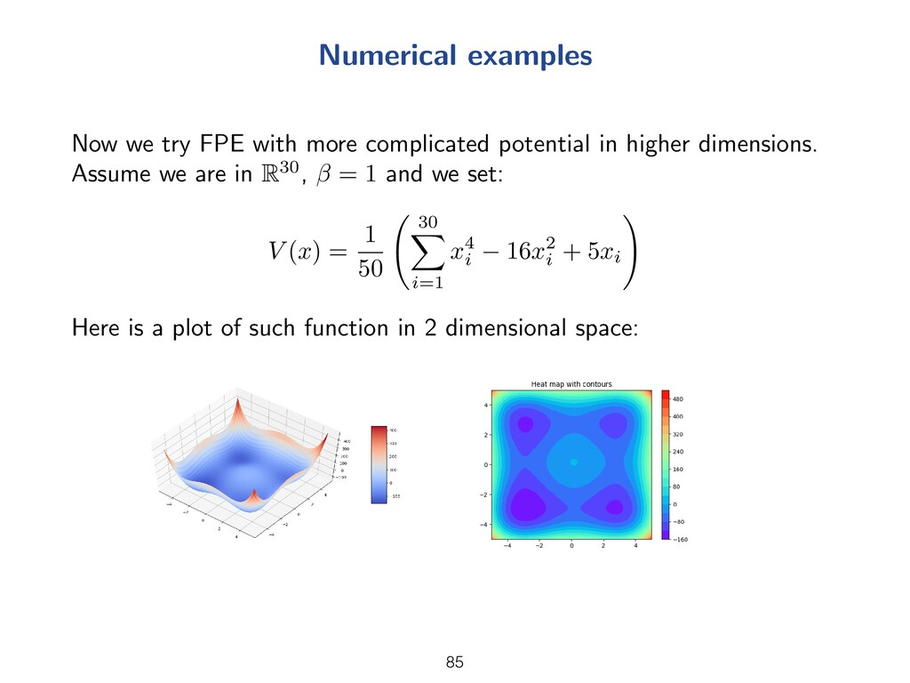Numerical examples Now we try FPE with more com...